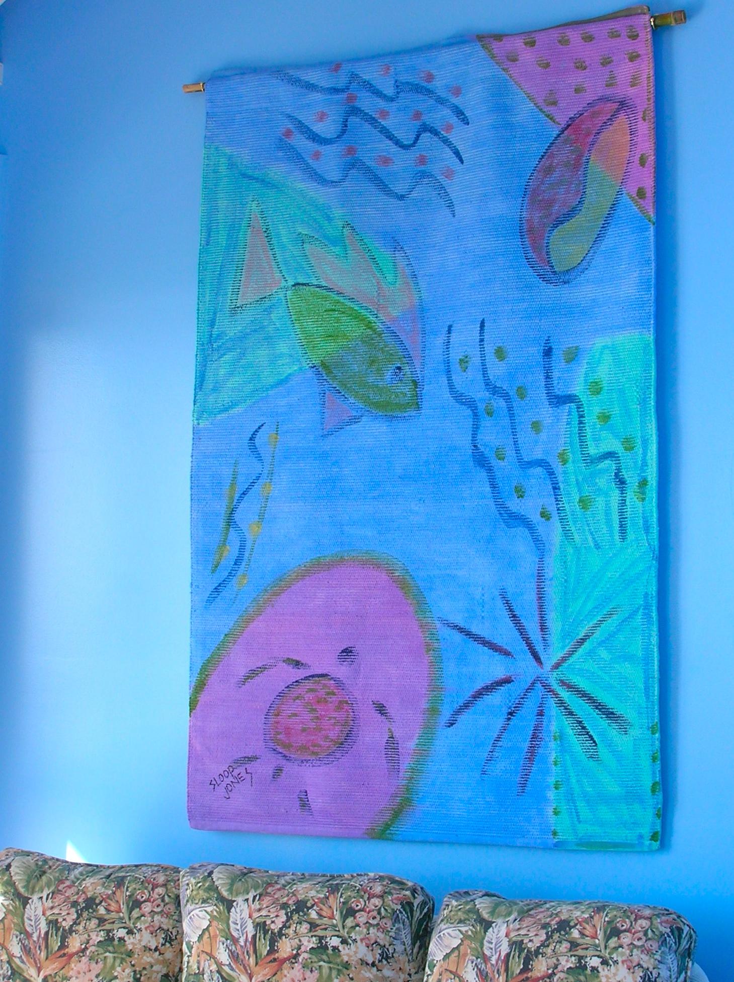 Wall hanging in Wild Jasmine VillaSt. John VI